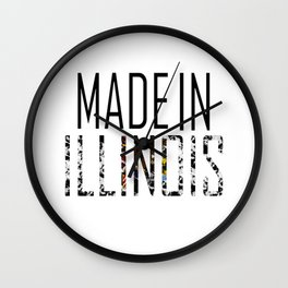Made In Illinois Wall Clock