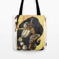 tarot Tote Bags featuring moon tarot by jessica krcmarik