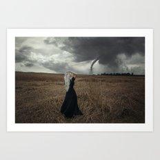 Towards the storm Art Print