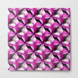 Oxalis Flower Pattern Metal Print