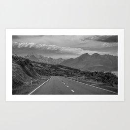 Mount Cook Road 1 Art Print