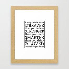 Always Remember Framed Art Print