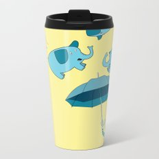 Braving the Elephants. Metal Travel Mug