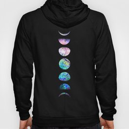 Peacock Opal Moon Cycle Hoodie