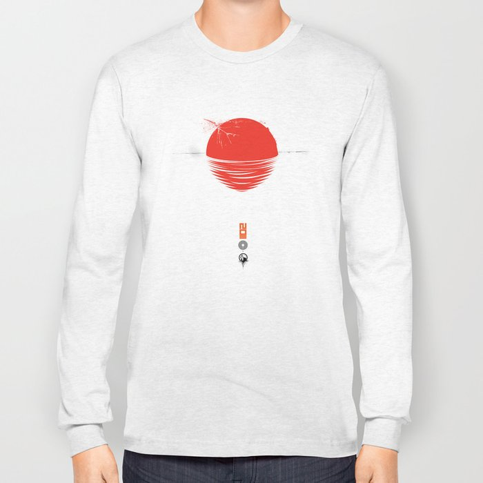 "Japan relief poster/all proceeds will go to ""Peace Winds"" Long Sleeve T-shirt"
