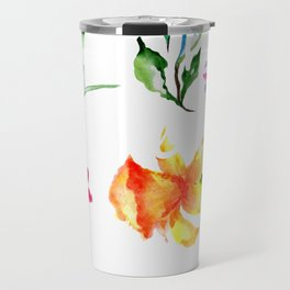 Wildflowers Watercolor Plant These and Save the Bees Beekeeper Travel Mug