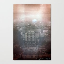 35mm Scanned Negative of Paris, Developed in Coffee Canvas Print