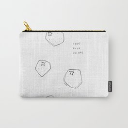 Love Your Colors - fruits illustration inspirational quotes Carry-All Pouch
