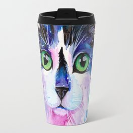 Black and White Tuxedo Cat Travel Mug