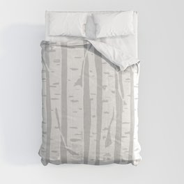 Woodcut Birches Grey Comforters