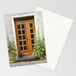 cat at the door Stationery Cards