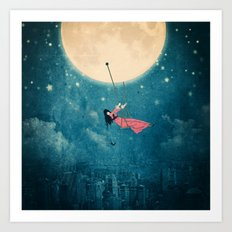 While the city sleeps... Art Print