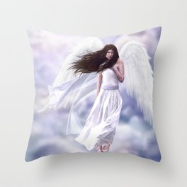 Some Clouds Have Wings Throw Pillow
