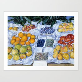 Gustave Caillebotte - Fruit Displayed On A Stand - Digital Remastered Edition Art Print