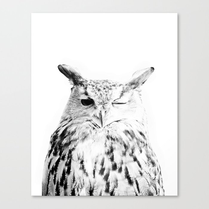 Owl Bird Cute Scandinavian Modern Art Art Minimal Wall Art Print Canvas Print By Scandihome