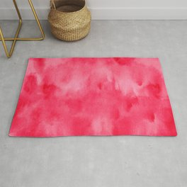 Red watercolor texture Rug