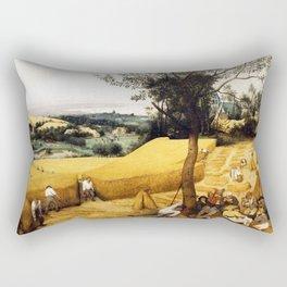 The Harvesters Painting by Pieter Bruegel the Elder Rectangular Pillow
