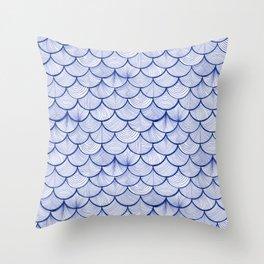 Scalloped Waves Throw Pillow