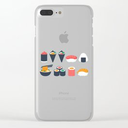 Sushi Time Clear iPhone Case