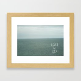 Lost At Sea Framed Art Print