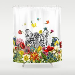 Happy Tiger Shower Curtain