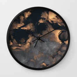 Gold Sunset (Cloud series #1) Wall Clock