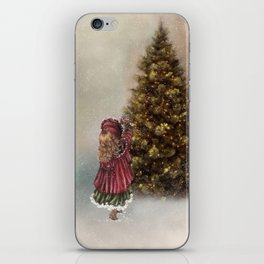 Decorating The Christmas Tree iPhone Skin