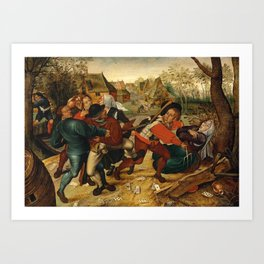 "Pieter Brueghel II (The Younger) ""A country brawl"" Art Print"