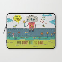 Even robots fall in love Laptop Sleeve