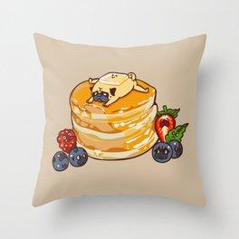 Pug Pancake Throw Pillow