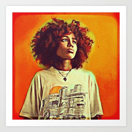 Nneka Art Print