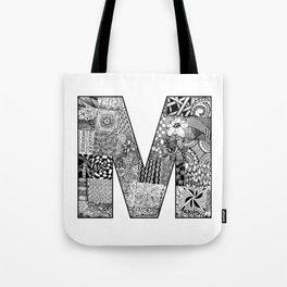 Cutout Letter M Tote Bag