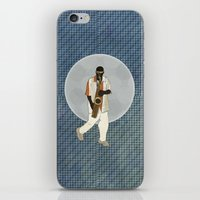 saxophone iPhone & iPod Skins featuring Saxophone Musician by Aquamarine Studio