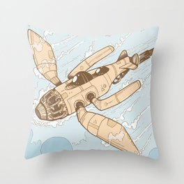 The Dragonfly Orange Throw Pillow