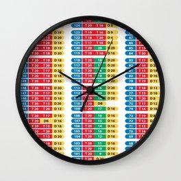 Darts 501 Outchart Wall Clock