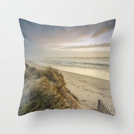 Rodanho beach, Viana do Castelo, Portugal Throw Pillow