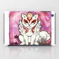 okami iPad Cases featuring Amaterasu from Okami 02 by Jazmine Phillips