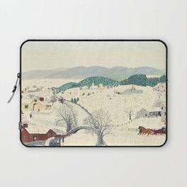 Anna Mary Robertson 'Grandma' Moses To Grandma's House We Go on Thanksgiving Day Folk Art Laptop Sleeve