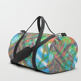 Colorful Abstract Stained Glass G299 Duffle Bag