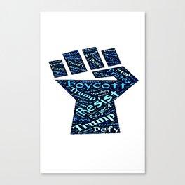 BOYCOTT TRUMP Canvas Print