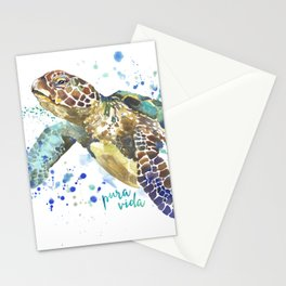 Sea Turtle Pura Vida Watercolor Stationery Cards