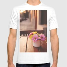 Flowers in the street Mens Fitted Tee MEDIUM White