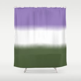 Genderqueer Flag Shower Curtain