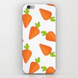 carrot pattern iPhone Skin