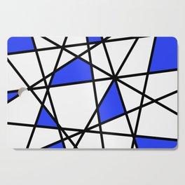 Geometric Modern triangles - white blue Cutting Board