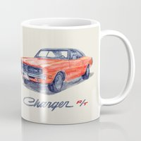 muscle Mugs featuring Muscle car -Dodge Charger by dareba