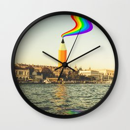 The Tower of Art Wall Clock