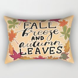 Fall Breeze And Autumn Leaves Rectangular Pillow