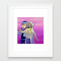 dmmd Framed Art Prints featuring Watch out! Clear and Aoba by Mottinthepot