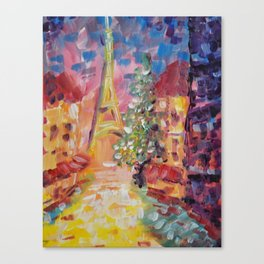 Staying In Paris Canvas Print